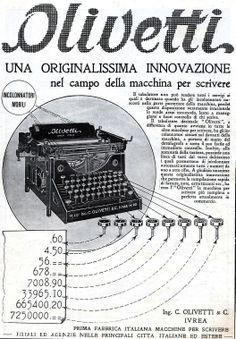 Olivetti  Una Originalissima Innovazione Ad, 1923