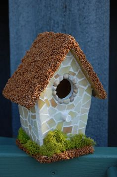 Mosaic Bird House by 2ndCycle on Etsy