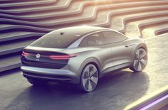 Volkswagen's electric onslaught continues with the ID Crozz; part of a strategy aimed at netting VW up to one million electric car sales globally by 2025 Volkswagen Models, Volkswagen Transporter, Sports Car Wallpaper, Vw Up, Wallpaper Pictures, Car Wallpapers, Wallpaper Desktop, Transportation Design, Car Lights