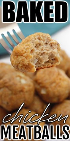 Chicken meatballs are moist and delicious on their own or perfect for adding to your favorite dinner or appetizer recipes! Healthy Beef Recipes, Beef Recipes For Dinner, Delicious Dinner Recipes, Appetizer Recipes, Yummy Food, Family Recipes, Turkey Recipes, Lunch Recipes, Tasty
