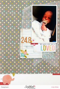 iLoveSchnipsel: 24.8 oder Experiment in A4 {Simple Stories - Hello Baby}