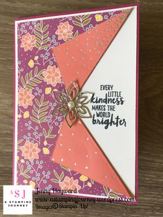 When you like both sides of the Sweet Soiree paper - just make a collar card to show them both off. Use this idea for any gorgeous Stampin' Up! paper. #usethatpaper #sweetsoiree