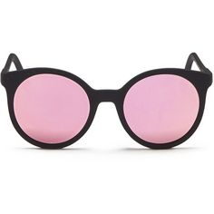 Spektre 'Stardust' flat mirror lens acetate round sunglasses ($225) ❤ liked on Polyvore featuring accessories, eyewear, sunglasses, black, mirror lens sunglasses, mirrored sunglasses, flat-top sunglasses, mirror glasses and round sunglasses