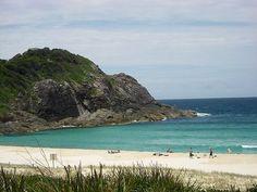 Elizabeth Beach, NSW.  Fine white sand, great in Winter too.