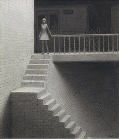 Chris Van Allsburg does creepy rather well, yes?