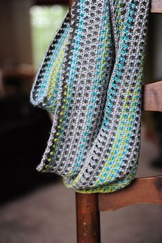 free pattern- calm cowl made with self stripping sock yarn