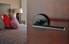 Nidus Round Marino Black Passage Set Black Door Hardware, Black Doors, The Block Australia, Bronze Door Knobs, Contemporary Doors, Matte Black, Interior Styling, Door Handles, Capri