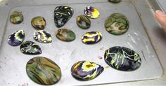 Mokume Gane Polymer Clay Beads and Cabochons Tutorial