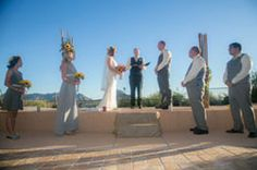 Desert backdrop and saguaro ribs set the stage for this awesome southwestern wedding