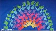 Regenboog van handen Voor in onze gang ?