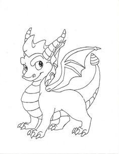 spyro dragon printable coloring pages