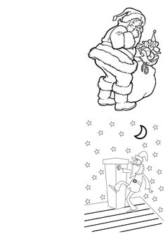 a range of free printable christmas cards designs for children to colour or paint download - Christmas Card Print Out