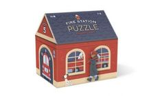 Fire Station House Shaped Box Puzzle by Crocodile Creek