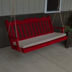 Outdoor A & L Furniture Yellow Pine Royal English Deluxe Garden Swing Tractor Red - 412-TRP TRACTOR RED