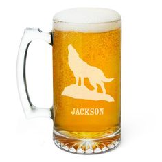 Wolf Personalized Beer Mug 15