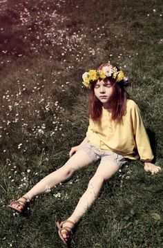 those sunny spring days when we were young and wore flowers in our hair
