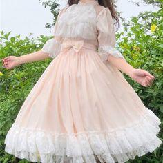 Kawaii Fashion, Lolita Fashion, Cute Fashion, Pretty Outfits, Pretty Dresses, Beautiful Dresses, Princess Dress Kids, Princess Dresses, Ullzang Girls