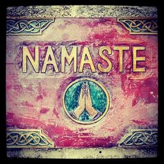 'The gesture Namaste represents the belief that there is a divine spark within each of us that is located in the heart chakra ❤ The gesture is an acknowledgement of the soul in one, by the soul in another. - Palkhivala   Nama means bow or I bow and te means you   Imagine all the people, greeting each other this wayyaha youhoo