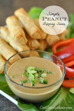 Simple Peanut Dipping Sauce Recipe | @Mindy CREATIVE JUICE