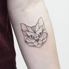 Afbeeldingsresultaat voor geometric cat tattoo