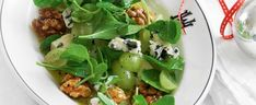 Toffeed Walnuts, Blue Cheese and Grape Salad recipe, brought to you by MiNDF Grape Salad, Food Club, Seasonal Food, Blue Cheese, Soup And Salad, Summer Recipes, Salad Recipes, Good Food, Food And Drink