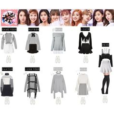 A fashion look from December 2016 featuring grey long sleeve t shirt, crewneck pullover sweater and grey jumper. Browse and shop related looks. Kpop Fashion Outfits, Stage Outfits, Edgy Outfits, Dance Outfits, Girl Fashion, Cute Outfits, Kpop Costume, Shows, Kpop Girls