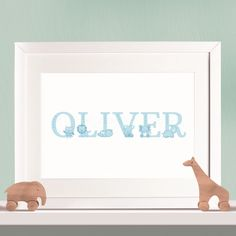 Personalised Baby and Children's Print - Animal Letters Full Name