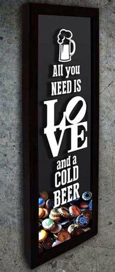 Quadro para tampinhas, rolhas, cerveja, beer