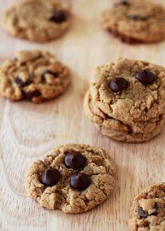 Flourless Peanut Butter Chocolate Chip Cookies Recipe - purecipes.com