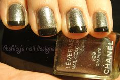 Chanel 529 Graphite with a thin layer of cheap black polish tips