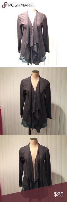 Lightweight grey shrug Dark grey shrug. Back ties and cinches together. Christine Gerard Sweaters Shrugs & Ponchos