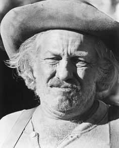 """Strother Martin, perhaps best known for """"Butch Cassidy And The Sundance Kid"""" and """"Cool Hand Luke"""". American character actor who achieved considerable fame in the last decade of his life. Hollywood Tv Series, In Hollywood, Hollywood California, Classic Hollywood, Western Film, Western Movies, Strother Martin, Cool Hand Luke, The Wild Bunch"""