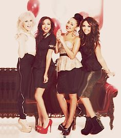 Little Mix. Love their outfits and especially the shoes