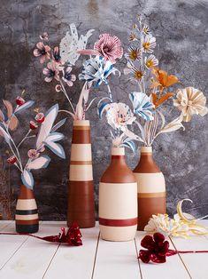 Striped Paper Flower Bouquet by Thuss + Farrell @west elm