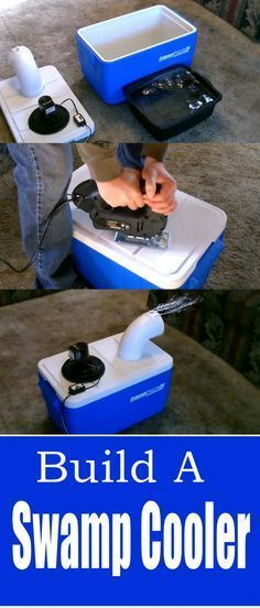 How to build a DIY Air Conditioner, aka Swamp Cooler for cheap. Cool a small room or tent. Perfect for camping. A Great Hack(Camping Hacks Bugs) Camping Hacks, Camping Bedarf, Camping Survival, Family Camping, Outdoor Camping, Camping Cabins, Camping Hammock, Winter Camping, Camping Stuff