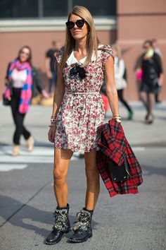 Street Style: New York Fashion Week Spring 2014 - Anna Dello Russo in Saint Laurent by Hedi Slimane