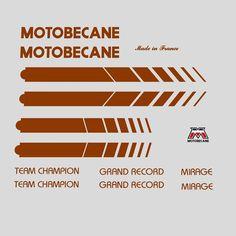 Motobecane Bicycle Frame Stickers - Decals - Transfers n.504 | eBay