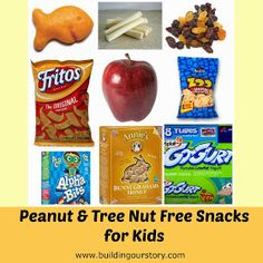 Building Our Story: Peanut Free Snack Ideas
