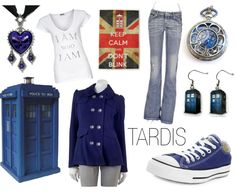 """TARDIS Blue"" by jenmcgehee on Polyvore"
