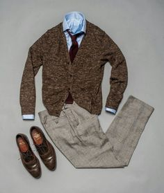 AOS: The Capsule Wardrobe: Spring Business Casual Casual Styles, Style Casual, Men Casual, Outfit Grid, Mode Outfits, Fashion Outfits, Moda Formal, School Looks, Gentleman Style