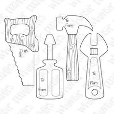 digitoolshandsawhammerscrewdriverwrenchtagsdad - Tools Coloring Pages Screwdriver