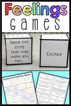 Social Skills 698058010978177018 - These 4 feelings games are perfect for teaching your students to identify and express feelings and emotions. Use them to increase engagement in your feelings and emotions lessons! Emotions Game, Feelings Games, Emotions Activities, Social Skills Activities, Teaching Social Skills, Counseling Activities, Social Emotional Learning, Feelings And Emotions, Learning Activities