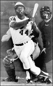 Hank Aaron  broke Babe Ruth's homerun record with 715 homers. 4.8.1974