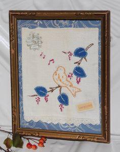 Vintage Frame Bird Decoration Ornate Frame by StarlilyDesignStudio, $28.00