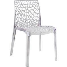 Chaise de jardin Grafic lux transparente