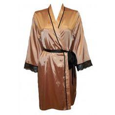 M&S Satin & Lace Kimono / Dressing Gown. Sizes 8-22