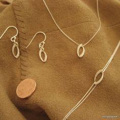 Schmuckset, Halskette, Armband & 1 Paar Ohrhänger in 925er Silber mit Zirkonia