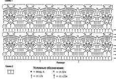 Irish lace, crochet, crochet patterns, clothing and decorations for the house, crocheted. Crotchet Stitches, Different Crochet Stitches, Knitting Stiches, Crochet Stitches Patterns, Crochet Designs, Stitch Patterns, Crochet Blouse, Thread Crochet, Knit Or Crochet