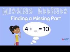 Missing Addends: Finding a Missing Part for Kids - YouTube