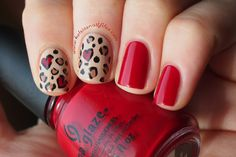 Kelsie's Nail Files: Love-ly Leopard #valentinesnailart #valentinesday #animalprint #nailart